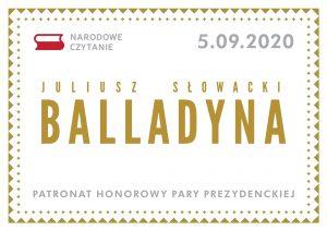 Narodowe Czytanie A.D. 2020 - Balladyna