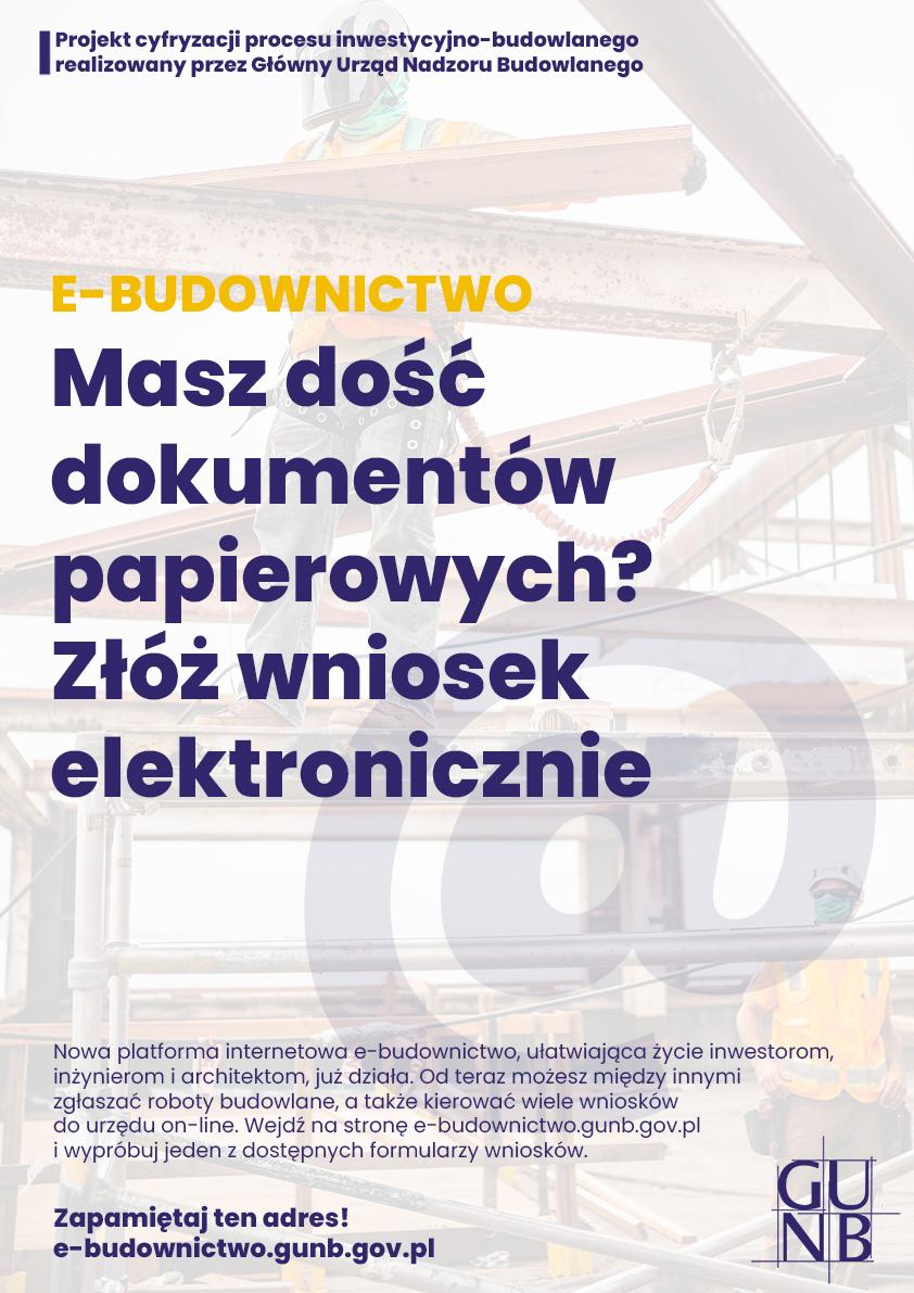 E-budownictwo - Wypełnij i złóż wniosek elektronicznie