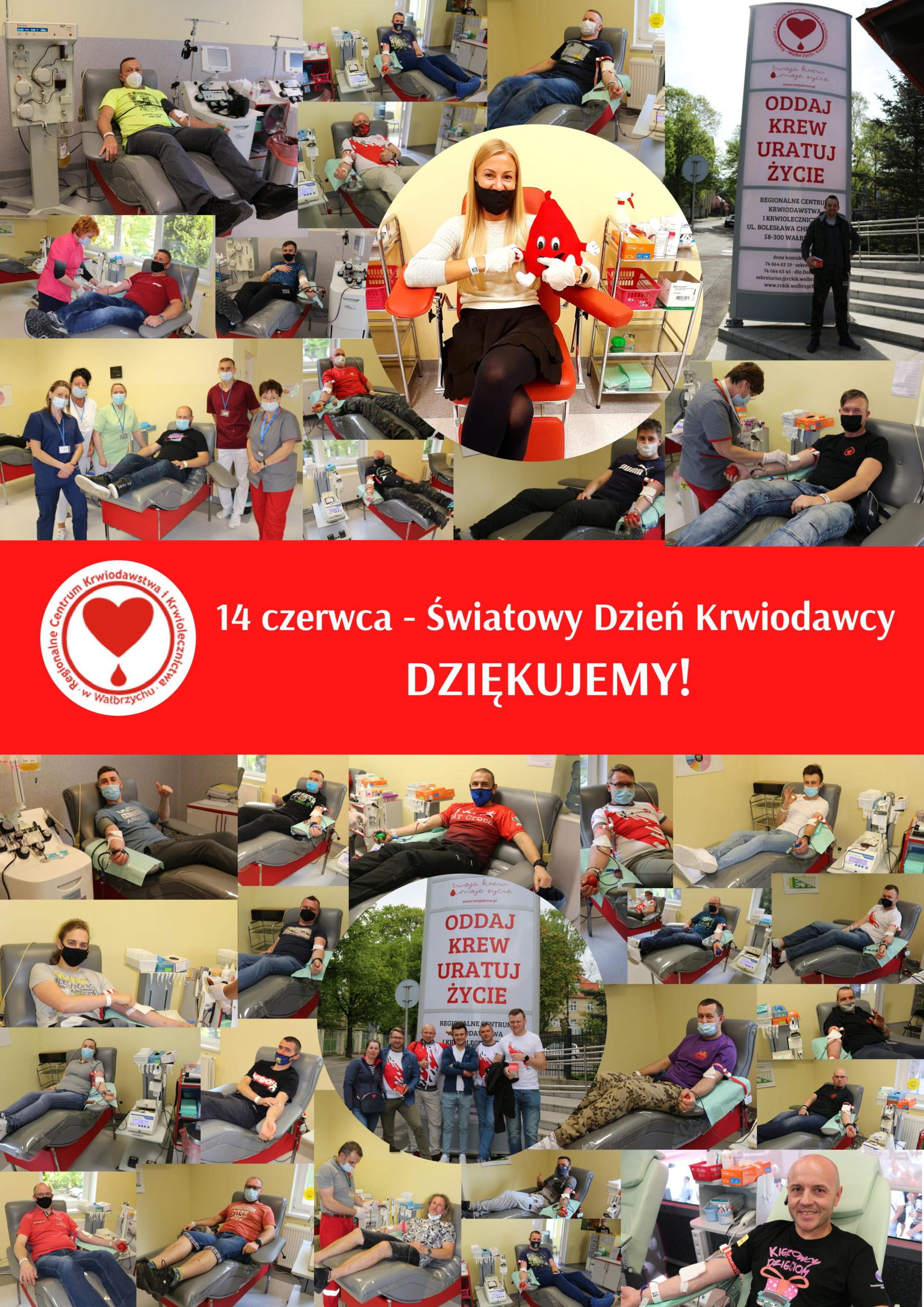 Podziękowania z okazji Światowego Dnia Krwiodawcy